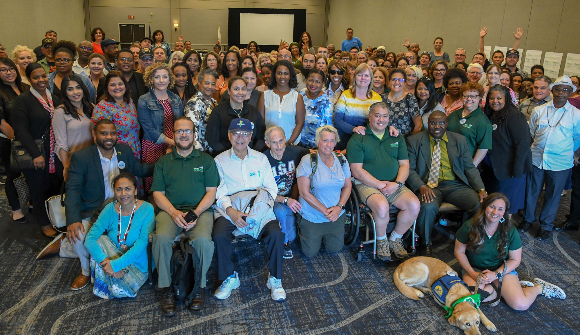 AFSCME Local 2620 members at a large occupational meeting